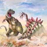 Allosaurus и Stegosaurus