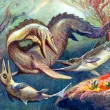 Mosasaurus and Ichthyosaurs (Мозазавр и ихтиозавр)