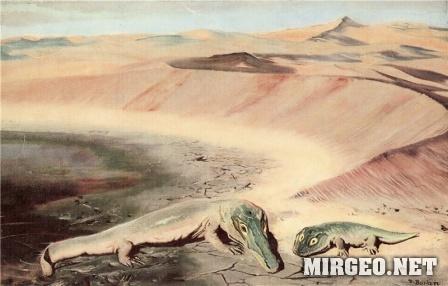 Архегозавр и бранхиозавр