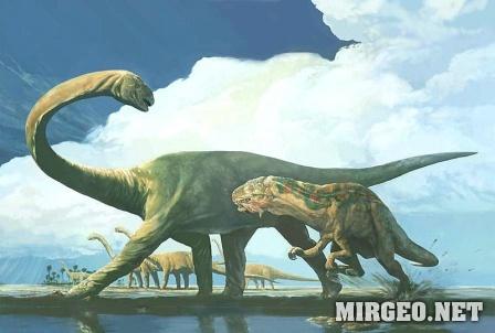 Pleurocoelus & Acrocanthosaur